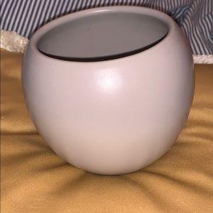 NWOT Small Wide Brim Beige Ceramic Vase